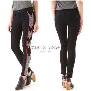 rag & bone raja stretch embroidered jeans size 26